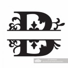 Letter B Personalised Monogram Name Sign