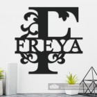 Letter F Personalised Monogram Name Sign in Situ in the Home