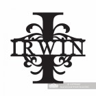 Letter I Monogram Name Sign Personalised with the Name Irwin