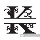 Letter K Personalised Monogram Name Sign