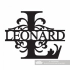 Letter L Monogram Name Sign Personalised with the Name Leonard