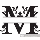 Letter M Personalised Monogram Name Sign