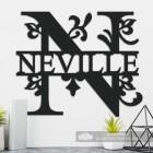 Letter N Personalised Monogram Name Sign in Situ in the Home