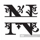 Letter N Personalised Monogram Name Sign