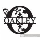 Letter O Monogram Name Sign Personalised with the Name Oakley