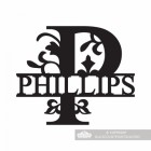 Letter P Monogram Name Sign Personalised with the Name Phillips