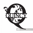 Letter Q Monogram Name Sign Personalised with the Name Quincy