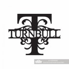 Letter T Monogram Name Sign Personalised with the Name Turnbull