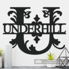 Letter U Personalised Monogram Name Sign in Situ in the Home