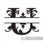 Letter U Personalised Monogram Name Sign