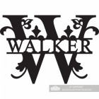 Letter W Monogram Name Sign Personalised with the Name Walker