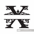 Letter X Personalised Monogram Name Sign