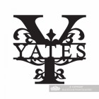 Letter Y Monogram Name Sign Personalised with the Name Yates