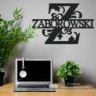Letter Z Monogram Name Sign in Situ in the Office