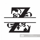 Letter Z Personalised Monogram Name Sign
