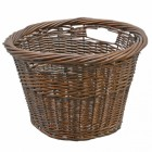 Traditional Rounded Wicker Log Basket