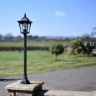 Tall Traditional Pillar Light Finished in Black