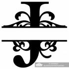Letter J Personalised Monogram Name Sign