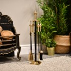 Black & Brass Companion Set In Situ Next to the Fireplace
