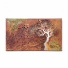 """View of the Rustic Iron Finish on the """"Tree In Wind"""" Wall Art"""