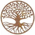 "Rustic Round ""Tree of Life"" Wall Art in a Rustic Finish"