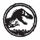 T-Rex Wall Art Finished in Black