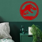T-Rex Wall Art on a Green Wall