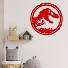 T-Rex Wall Art in Situ in the Living Room