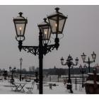 Triple Headed Dorchester Lamp Post & Lantern Set