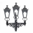 Triple Headed Gothic Style Lamp Post Set