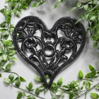 Black Cast Iron Heart Trivet