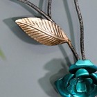 Close-up o fthe Silver and Turquoise Finish
