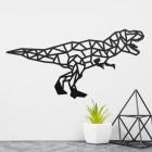 Geometric Iron T-Rex Wall Art in the Home