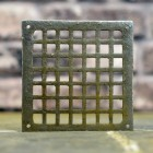 Square Cast Iron Air Cover in a Natural Iron Finish