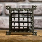Cast iron grill air vent cover for brick wall