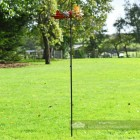 Aeroplane Garden Wind Spinner In Garden Setting
