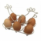Vintage Cream Chicken 6 Egg Holder