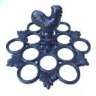 Black Cast Iron 12 Egg Holder