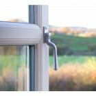 Polished Chrome Teardrop Espagnolette Window Fastener - Fitted to UPVC window
