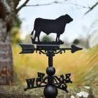 Bull Weathervane in garden