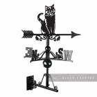 Sitting Cat Weathervane Created From Iron