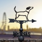 Jack Russel Iron Weathervane in View in the City