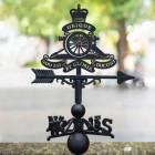 Royal Artillery Emblem Iron Weathervane