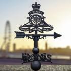 Royal Artillery Emblem Cast Iron Weathervane