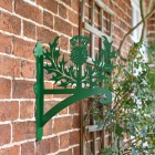 Thistle Design Hanging Basket Bracket on the Front of a House