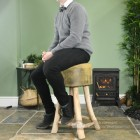 Vintage Style Wooden Stool Scale Shot