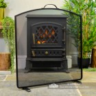 Black Fire Screen with an Arched Top