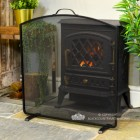 Arched Fire Screen Finished in Black