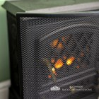 Close-up of the Black Finish and Black Mesh on the Fire Screen