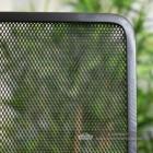 Square Black Bespoke Fire Screen Close Up